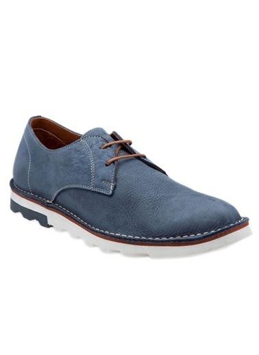 Hush Puppies Bağcıklı Nubuk Ayakkabı Mavi